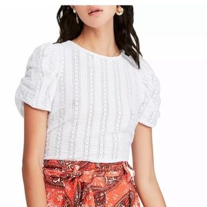 Free People Star Struck cropped Blouse White